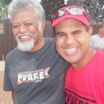 Uncle Bobby and Paddler at the Queen Liliuokalani Race